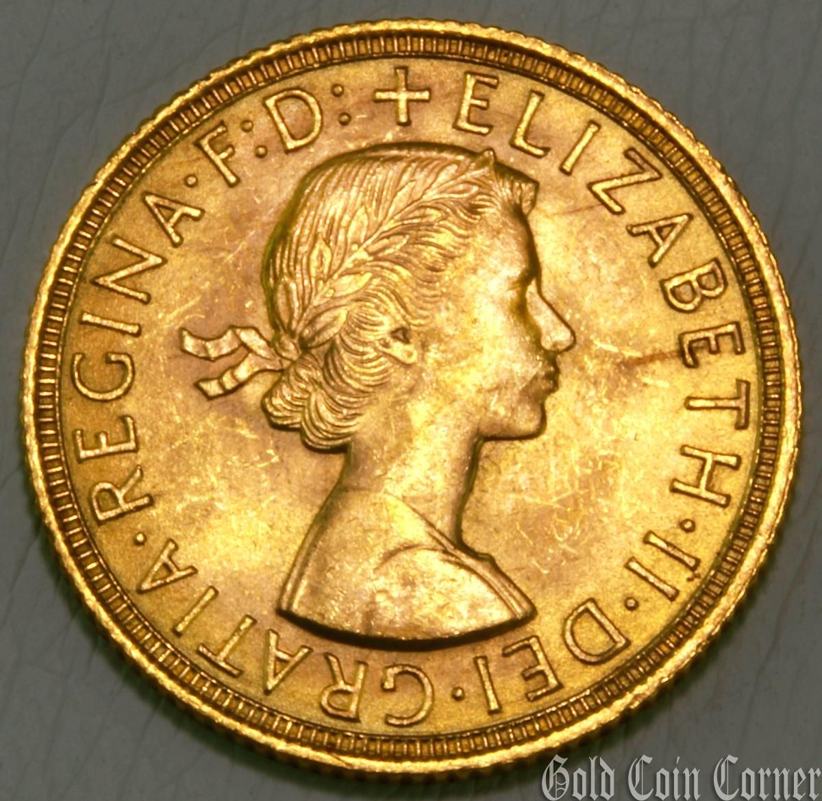 1958 elizabeth ii gold coin